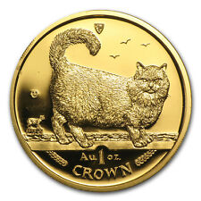 1998 Isle of Man 1 oz Gold Birman Cat Bu