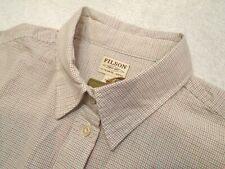 Filson Women's 100% Cotton Hyland Tattersall Check Sport Shirt NWT Large $98