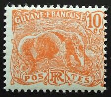 New listing French Guiana 1904 Mnh 10c anteater, Nh!