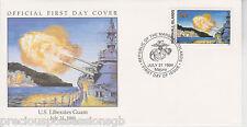 W78 1-1 Isole Marshall FDC COVER 1994 U.S. libera GUAM 1944