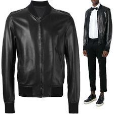 ★Giacca Giubbotto Uomo in di PELLE 100% Men Leather Jacket Veste Homme Cuir Y97