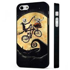Pesadilla antes de Navidad et volando Bicicleta Teléfono Negro funda se adapta iPhone