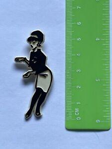 Rare Rude Girl Original SMALL shaped plastic Ska 2 Tone badge