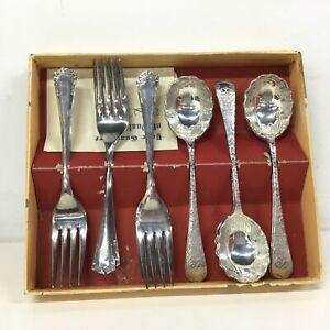 RODD Silver Plated Sweet Spoons & Forks #323