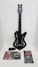 PS3 Guitar Hero Warriors of Rock Guitar Bundle w/Dongle + 4 Games