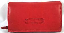 große Damengeldbörse Leder Portemonnaie Portmonee Geldbeutel XL 12135b rot