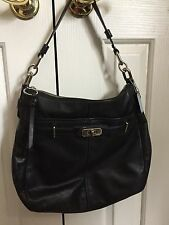 COACH F17816 • Ashlyn Chelsea Black Leather • Hobo Shoulder • Purse Hand Bag