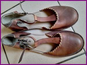 sandales salomé femme kickers taille 40 marron