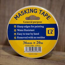 60 Rolls  Masking Tape 30 mm x 20 Meter -White Colour