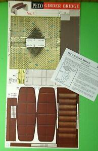 Peco Kit No.3 Girder Bridge pre-cut card kit OO/HO