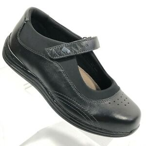 Drew Orchid Women Comfort Mary Jane Shoe US 8 WW Solid Black Diabetic Orthopedic