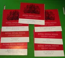 Seven Royal Opera House programmes from the early 60's