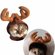 Small Pet Dog Puppy Cat Reindeer Cap Halloween Christmas Xmas Costume Dress Hats