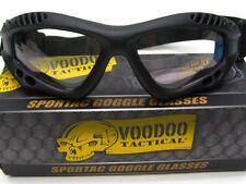 VOODOO TACTICAL Black Adjustable SPORTAC GOGGLES Glasses Clear Lens 02-883278000