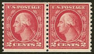 455 Mint F-VF NH Pair Cat $42.50
