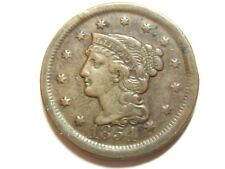 1854 Braided Hair Large Cent - Extra Fine XF - #183