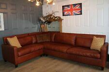 HABITAT chester range brown leather corner sofa new cost £4200