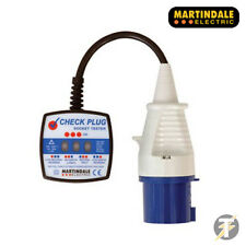 Martindale CP201 3 pines 250v INDUSTRIAL Cuadros PLUG TESTER DE ENCHUFES