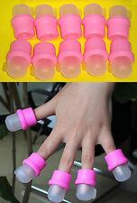 10 Capsulas Dedos Para Quitar Uñas Acrilicas/Porcelana Remojadores Acrilic Nail