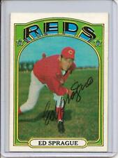 1972 Topps Ed Sprague Autographed card - Reds