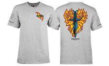 Powell Peralta Bones Brigade Tommy Guerrero Flaming Dagger Shirt Ash Large