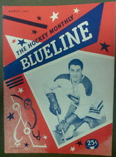 "(#142)Jean Beliveau on the cover of ""BLUELINE"" Monthly Magazine March  1955"
