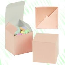 """12 Folding Gift Boxes - Weddings, Parties, Rings, Jewelry - 2"""" x 2"""" - Pale Pink"""