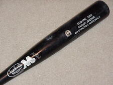 Carlos Baerga H&B M9 Maple Game Used Bat Indians Washington Nationals MLB