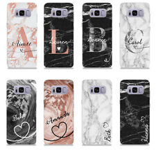 PERSONALISED SOFT SILICONE INITIAL PHONE CASE COVER SAMSUNG GALAXY S7 S8 S9 S10