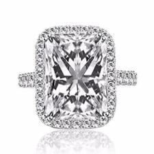 Engagement Ring 14k White Gold Finish  00006000 New listing 3.0 Carat Radiant Cut Brilliant Moissanite