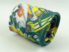 Vintage 1990 Green Bay Packers Neck Tie-RALPH MARLIN-Hecho en EE. UU.