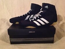 New in Box Youth Adidas Pretereo Jr Black/White Wrestling Shoes #145950 Size 5.5