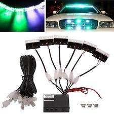 18LED Vehicles Emergency Warning Strobe Flash Deck Dash Grill Lights Green&White