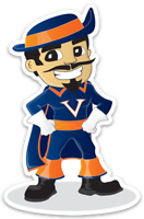 Virginia Cavaliers University of Virginia Cavalier Wahoo Mascot MAGNET