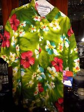Jams World NEW NWT FAB RARE M Puanani Green Hawaiian Shirt Beach Bar Lounge OOP