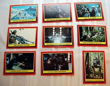 Lot of 9 STAR WARS Return of the Jedi 1983 TOPPS Trading Cards