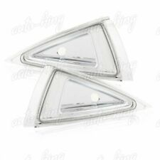 CHROME HOUSING CLEAR LENS TURN SIGNAL CORNER LIGHTS FIT 1995-1999 CHEVY CAVALIER