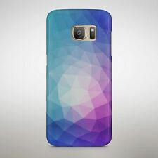 Wavy Triangle Pattern Colour Faded Purple Blue Pyramid Shapes Phone Case Cover