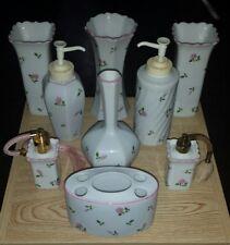 1985 Vintage St Michael December Floral 9 pcs set