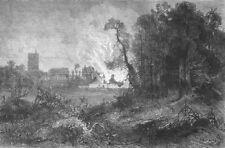 FRANCE. Cartridge explosion, Chateau De Vincennes, antique print, 1871