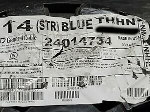 General Cable #14awg 19 Stranded THHN/THWN-2/MTW Building Wire Blue /100ft