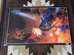 """RARE Used Star Wars 34 X 22 """"Rock's"""" Poster  Lucasfilm 2010 Rock & Roll Band"""