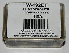 Kirkhill Inc. Assorted Flat Faucet Washers and Brass Screws W-192Bf Nos plumbing