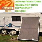 Caravan Fridge Shade screen superior Premium Vent 1320x1800mm LARGE AUS GREY