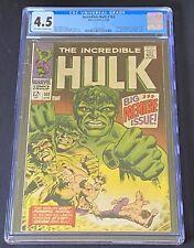 Incredible Hulk #102 CGC 4.5 (Marvel 1968) Premiere Issue/Origin retold