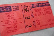 BRUCE SPRINGSTEEN Original 1980 CONCERT TICKET STUB__Madison Square Garden, NYC