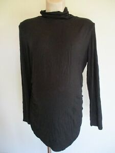 BLOOMING MARVELLOUS MATERNITY BLACK HIGH NECK LONG SLEEVE TOP SIZE 18 BNWT