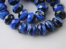 Loose Rondelle Faceted Glass Crystal Stripe Design Beads Spacer Findings 12mm