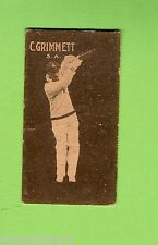 1930s  ALLEN'S STEAM ROLLERS  CRICKET CARD  C. GRIMMETT, SOUTH AUSTRALIA