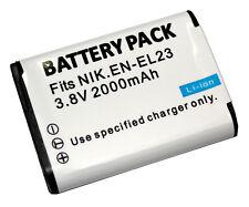 1850mAh EN-EL23 Battery For Nikon Coolpix B700 P900 P990s S810c P610 P610s P600